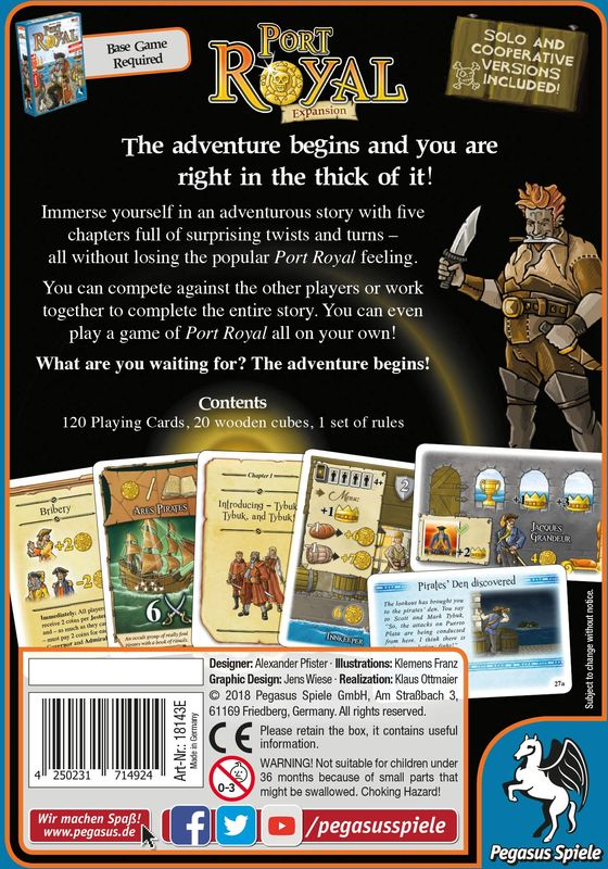 Port Royal: The Adventure Begins... back of the box