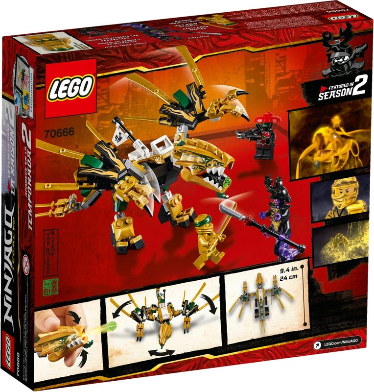 The Golden Dragon back of the box