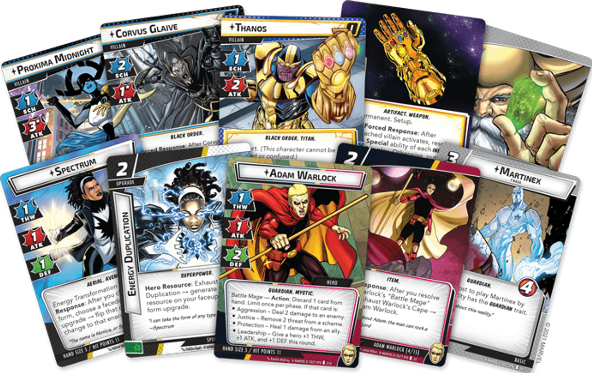 Marvel Champions: The Card Game – The Mad Titan's Shadow cards
