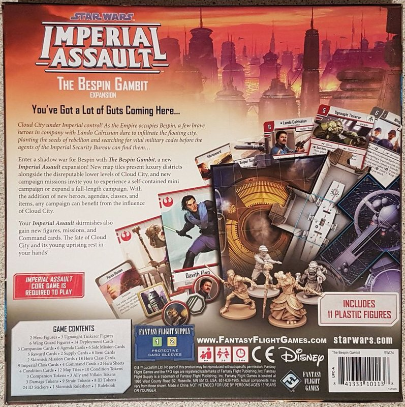 Star Wars: Imperial Assault - The Bespin Gambit back of the box
