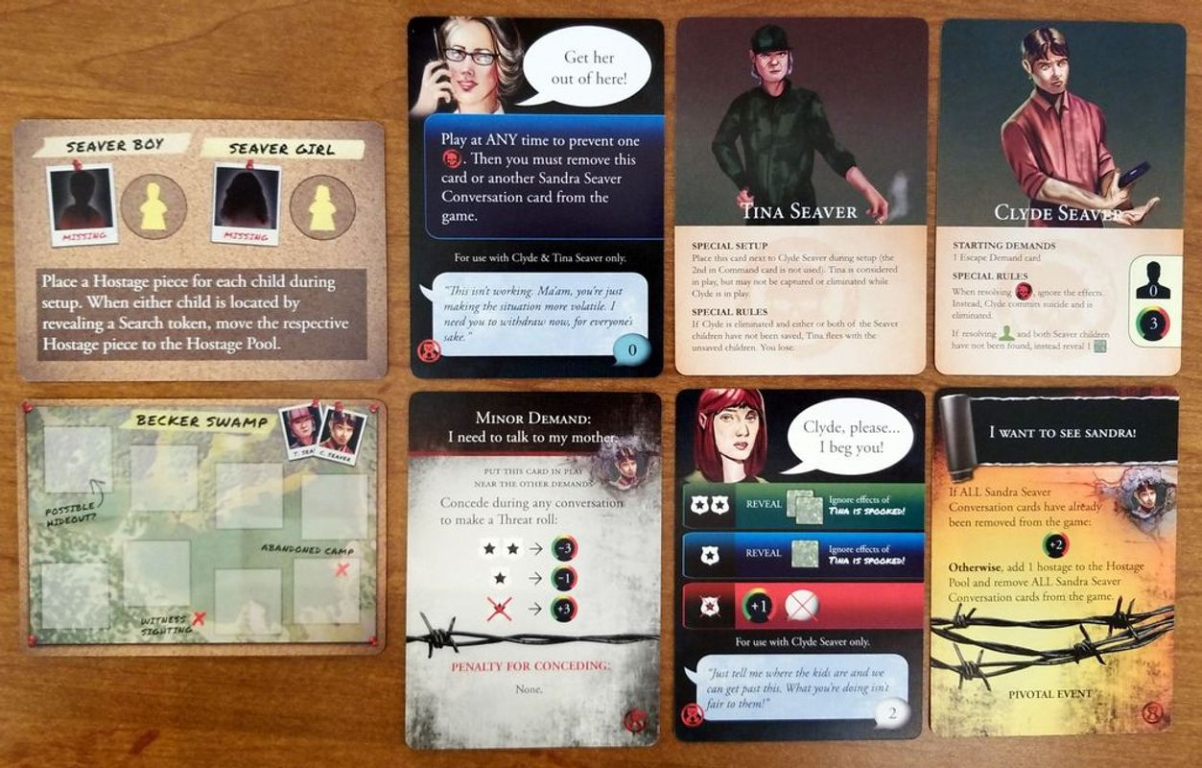 Hostage Negotiator: Abductor Pack 6 cards