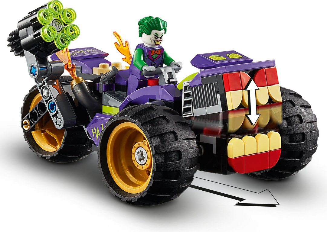 LEGO® DC Superheroes Joker's Trike Chase components