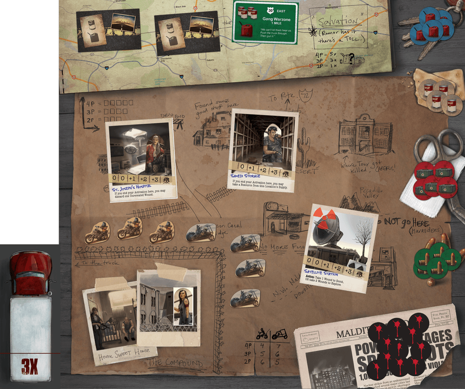 Salvation Road game board