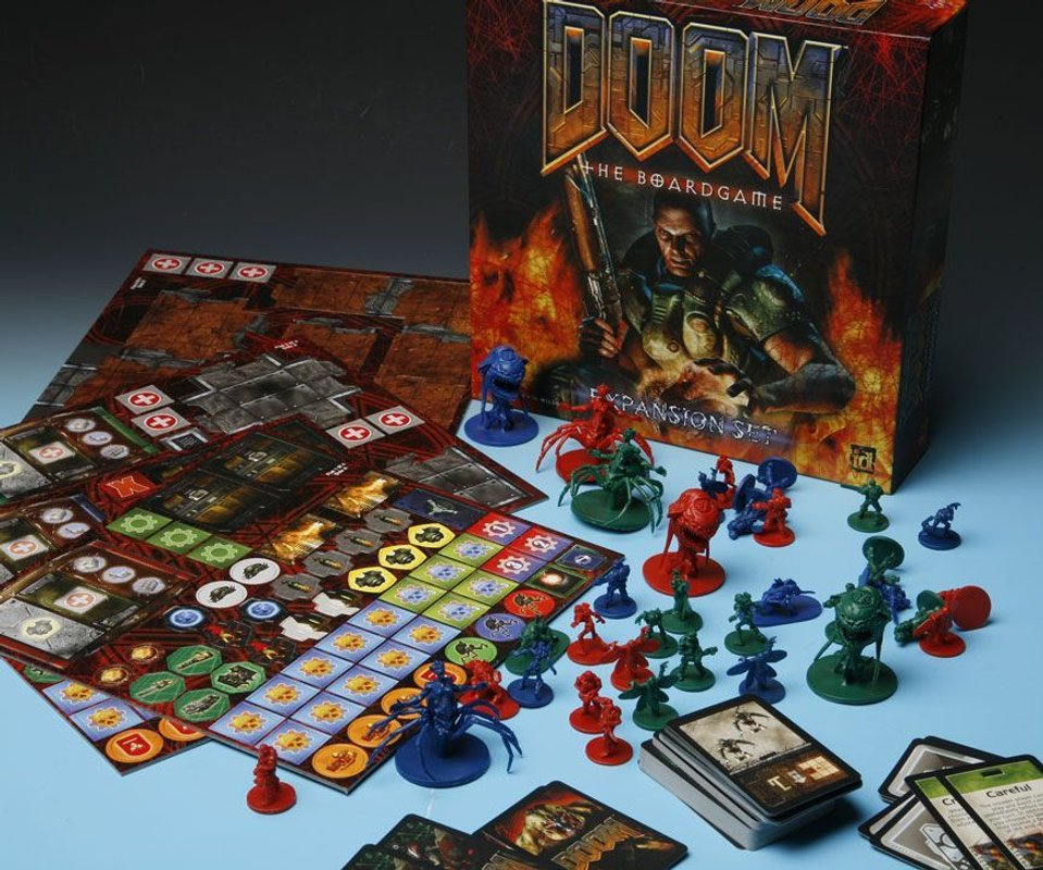 Doom: The Boardgame Expansion Set components
