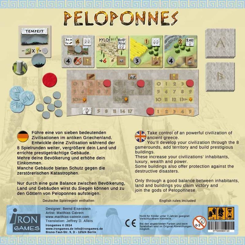 Peloponnes back of the box