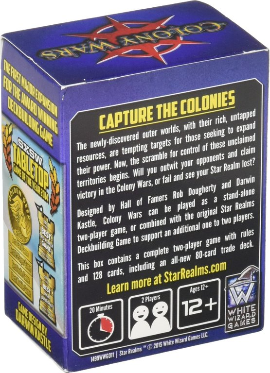 Star Realms: Colony Wars back of the box