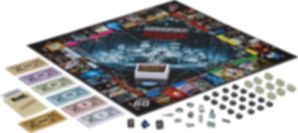 Monopoly Stranger Things Collectors Edition components