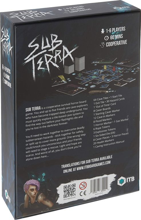 Sub Terra back of the box