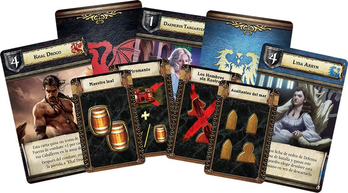 A Game of Thrones: The Board Game (Second Edition) - Mother of Dragons cards