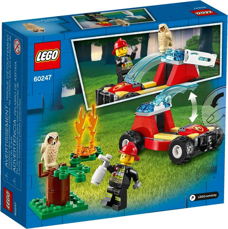 LEGO® City Forest Fire back of the box