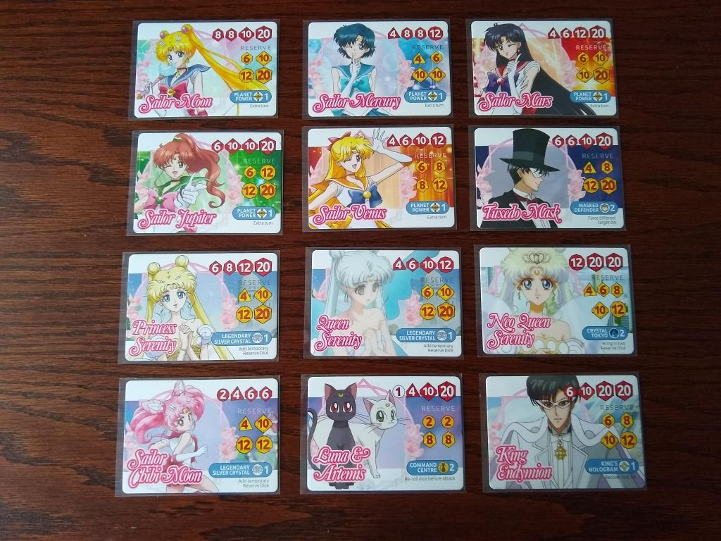 Sailor Moon Crystal: Dice Challenge cards