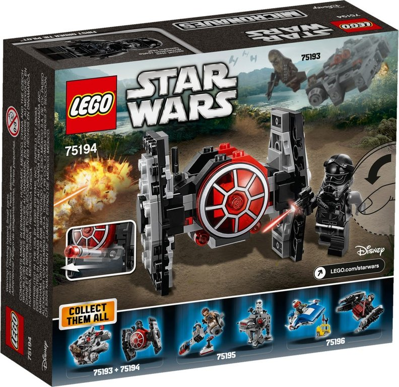 LEGO® Star Wars First Order TIE Fighter™ Microfighter back of the box