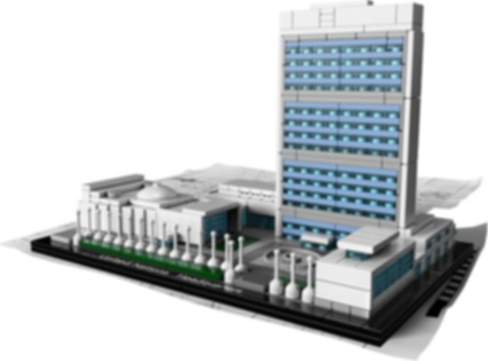 LEGO® Architecture United Nations Headquarters components