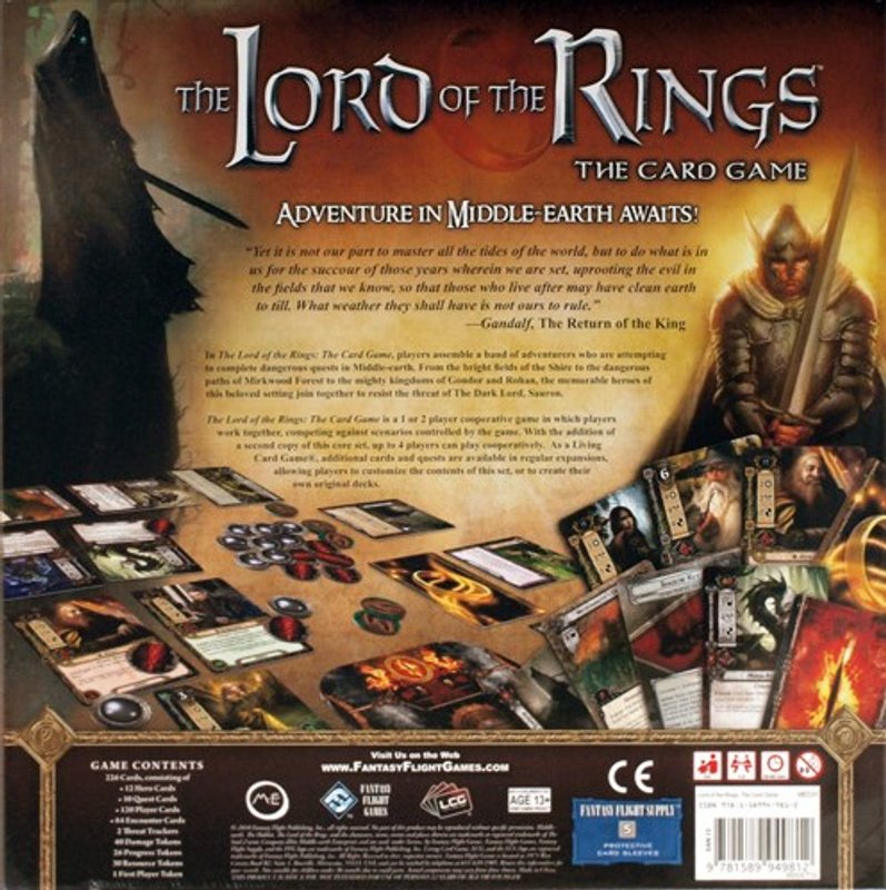 The Lord of the Rings: The Card Game back of the box