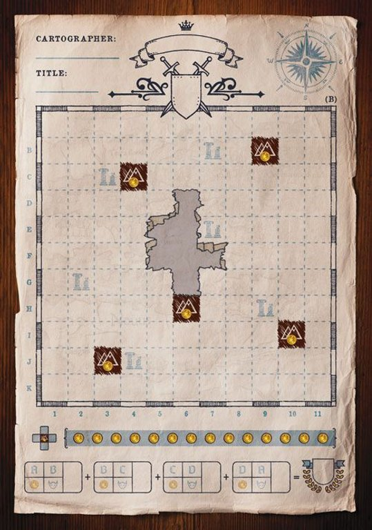 Cartographers: A Roll Player Tale game board