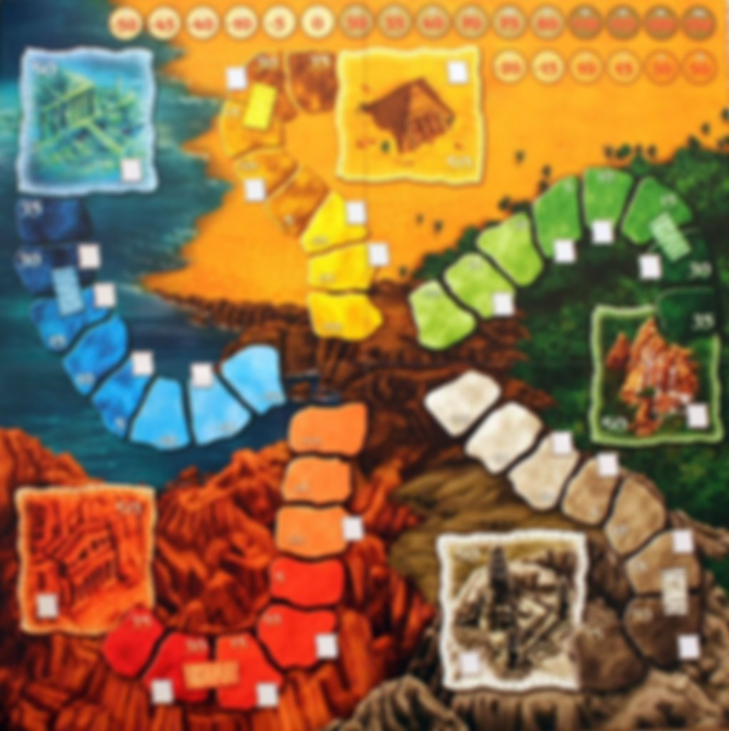 Lost Cities: The Board Game game board