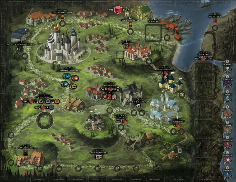 Dark Domains game board