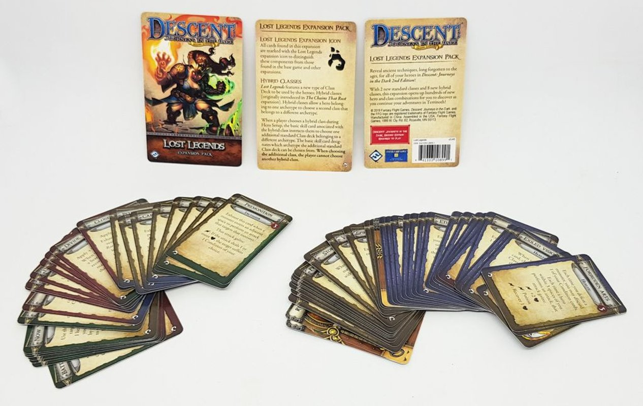 Descent: Journeys in the Dark (Second Edition) - Lost Legends Expansion Pack cards