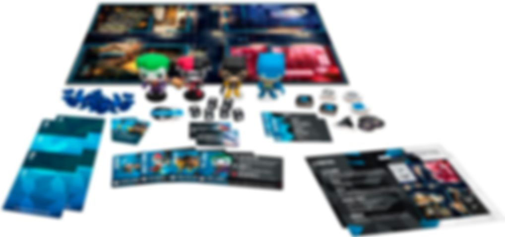 Funkoverse Strategy Game: DC 4-Pack components