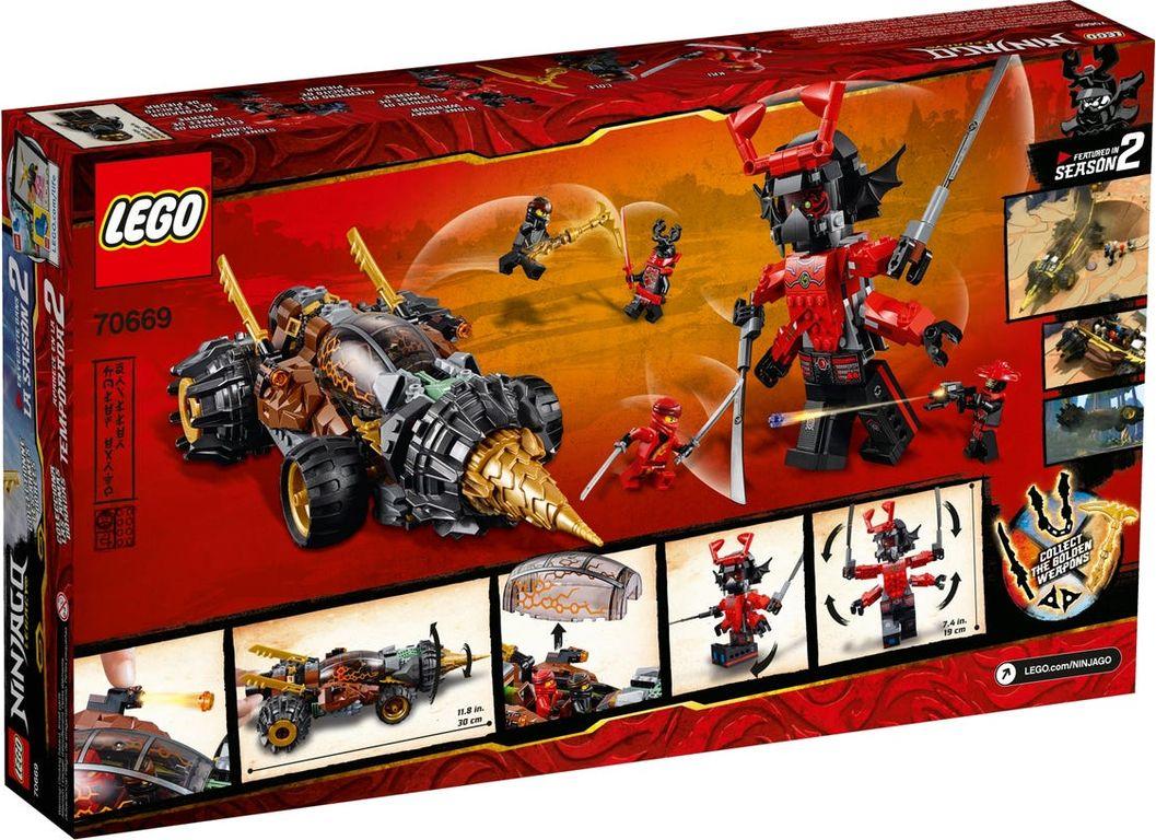 LEGO® Ninjago Cole's Earth Driller back of the box