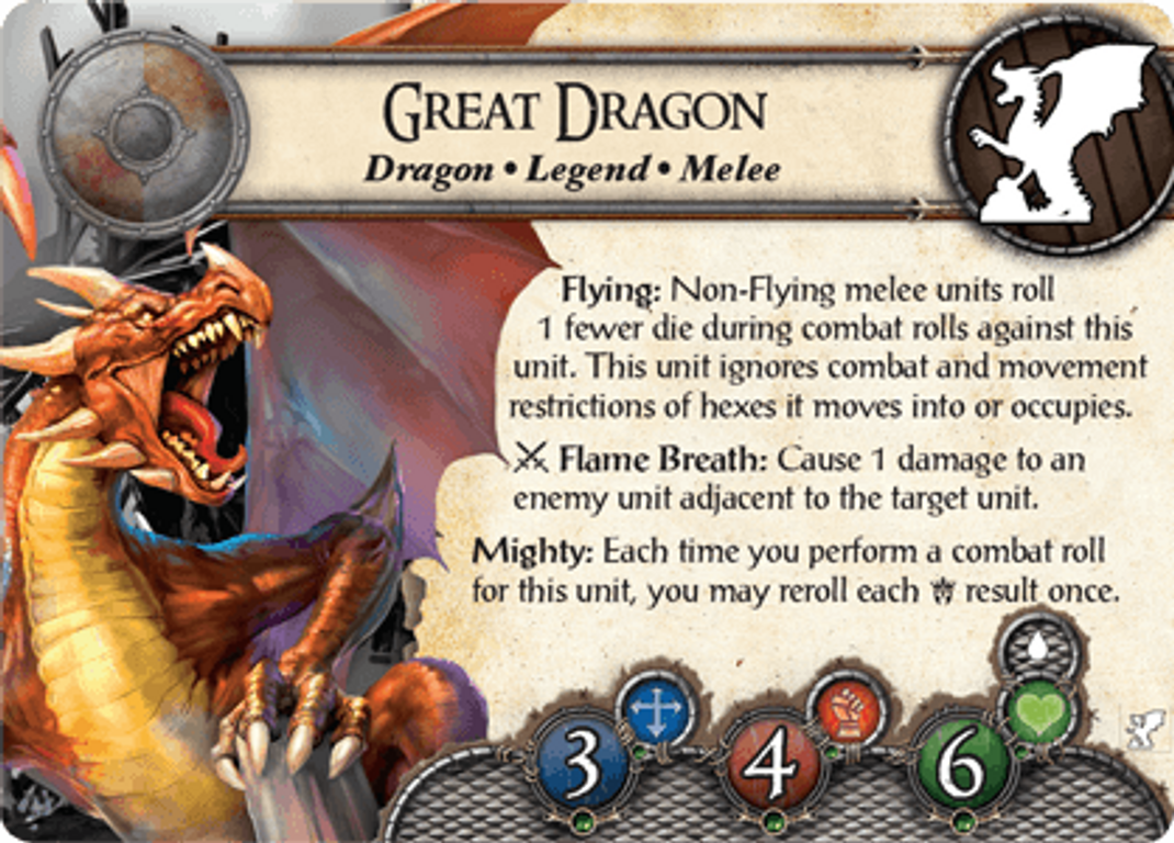 BattleLore (Second Edition): Great Dragon Reinforcement Pack cards