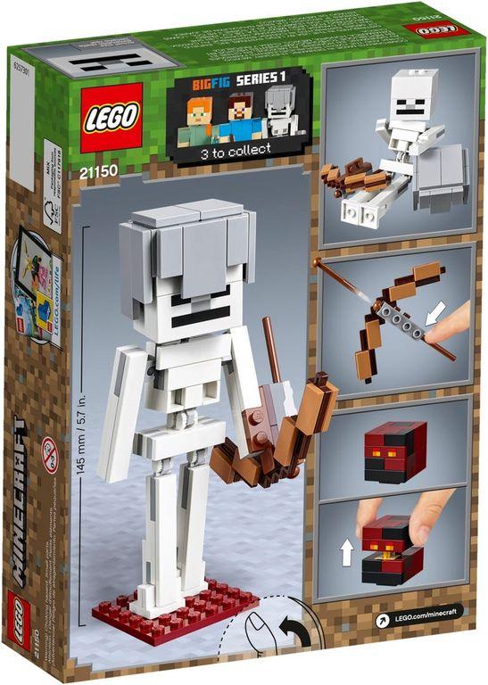 LEGO® Minecraft Skeleton BigFig with Magma Cube back of the box