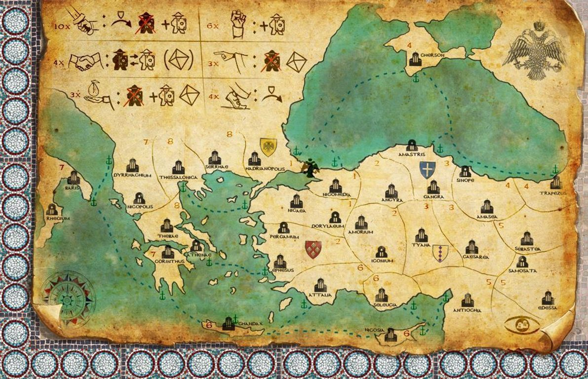 Byzantio game board