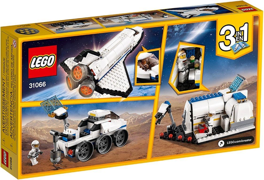 Space Shuttle Explorer back of the box