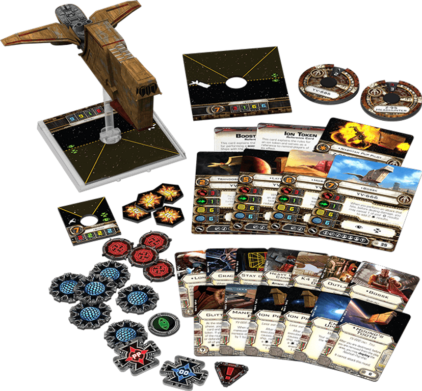 Star Wars: X-Wing Miniatures Game - Hound's Tooth Expansion Pack components