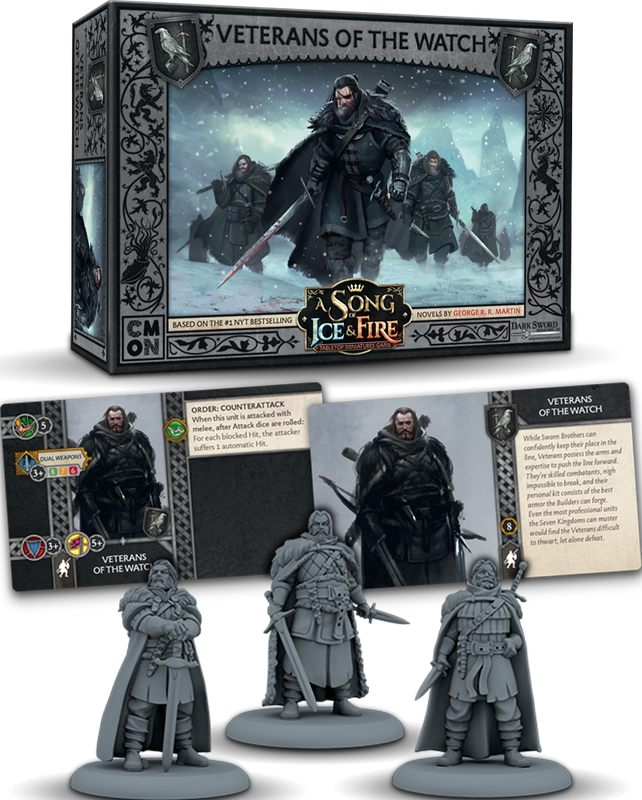 A Song of Ice & Fire: Tabletop Miniatures Game – Veterans of the Watch components