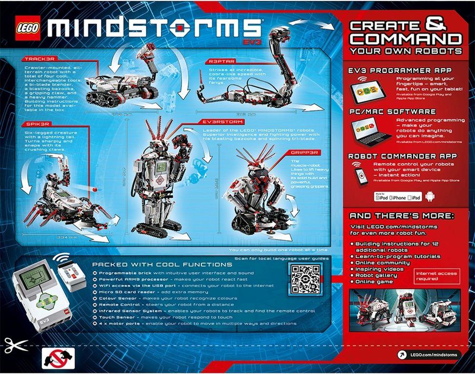 LEGO® Mindstorms® EV3 back of the box