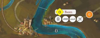 Rhein: River Trade game board