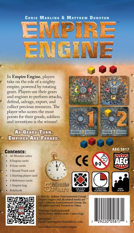 Empire Engine back of the box
