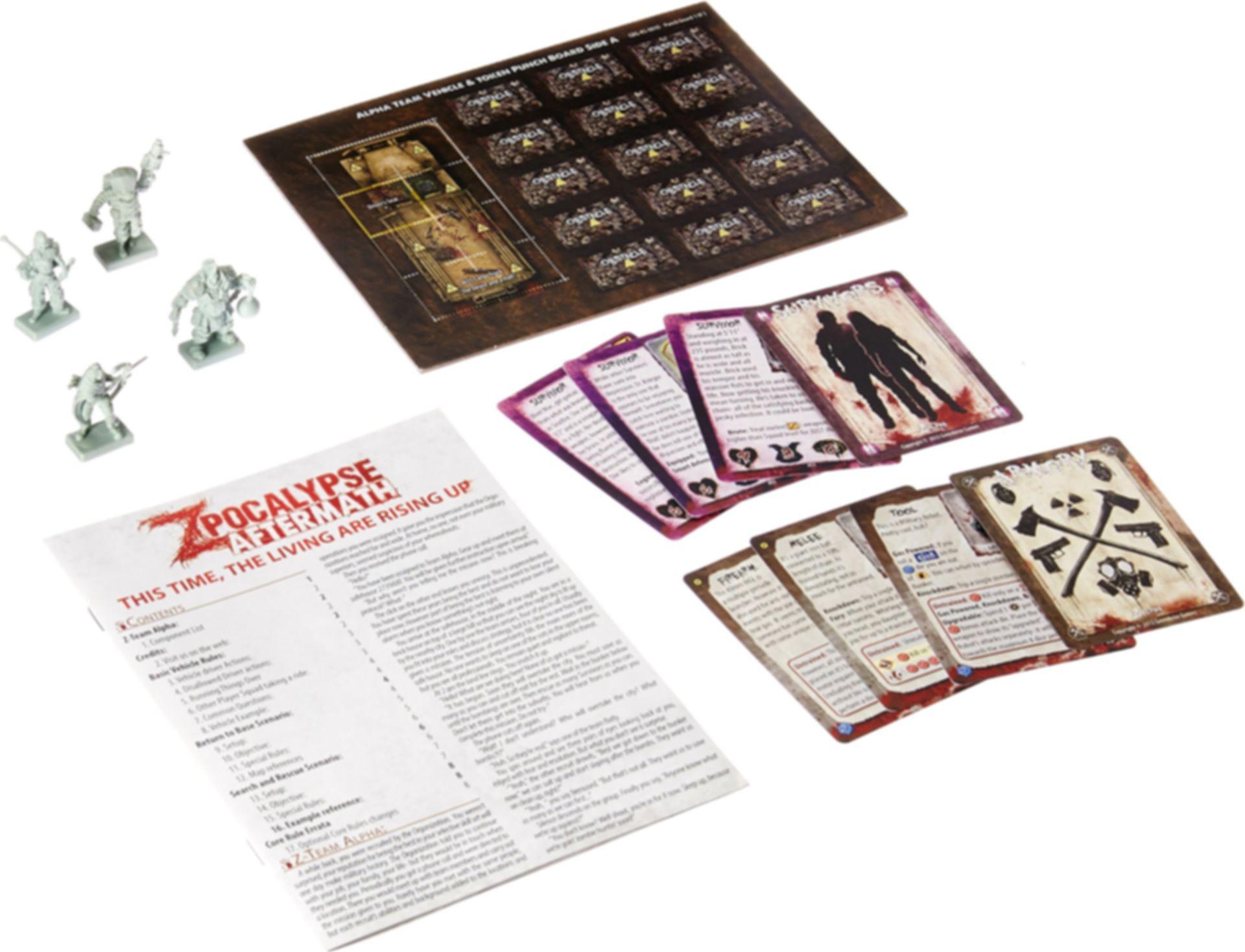 Zpocalypse: Aftermath - Z-Team Alpha Pack components