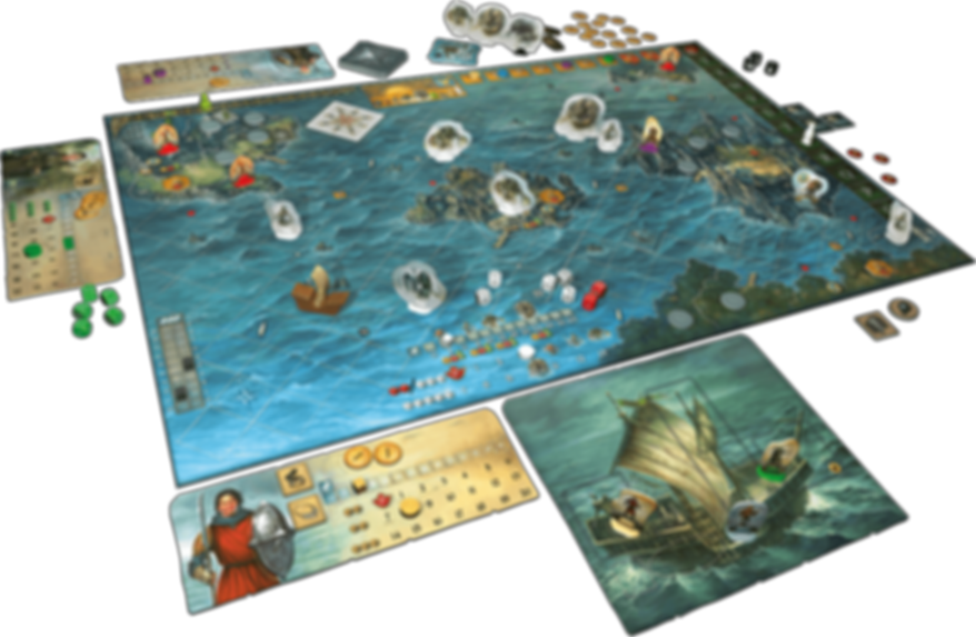 Legends of Andor: Journey to the North components