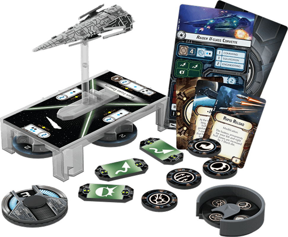 Star Wars: Armada - Imperial Raider Expansion Pack components