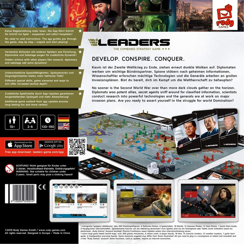 LEADERS: The Combined Strategy Game back of the box