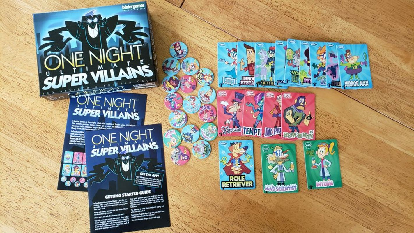 One Night Ultimate Super Villains components