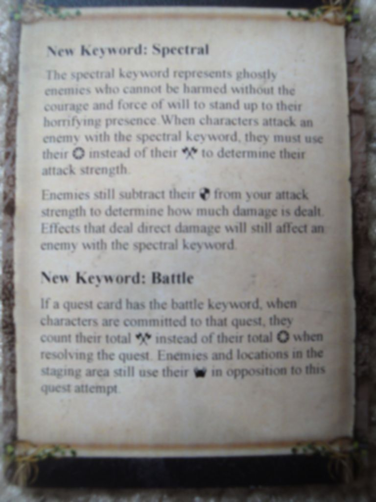 The Lord of the Rings: The Card Game - The Stone of Erech manual