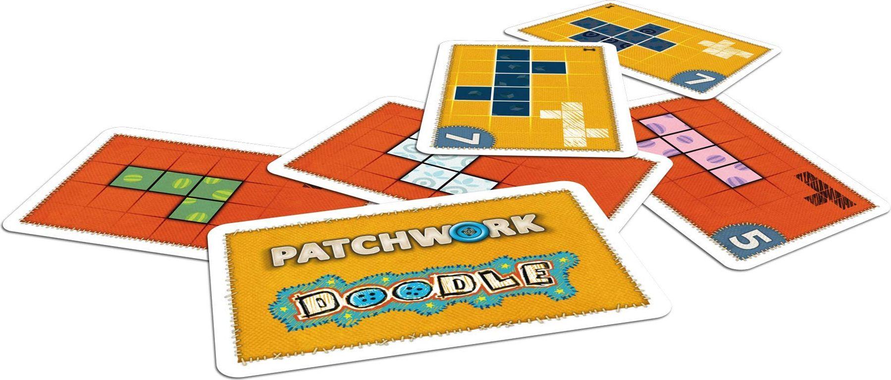 Patchwork Doodle cards