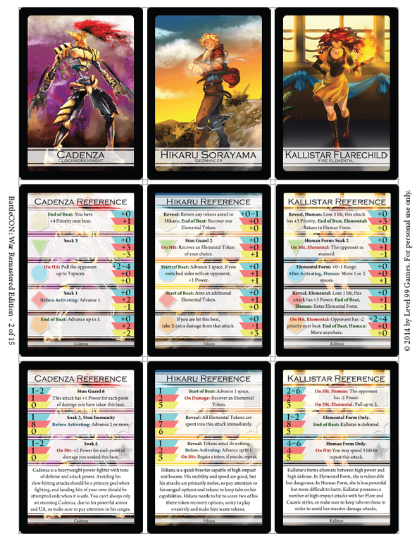 BattleCON: War of Indines cards