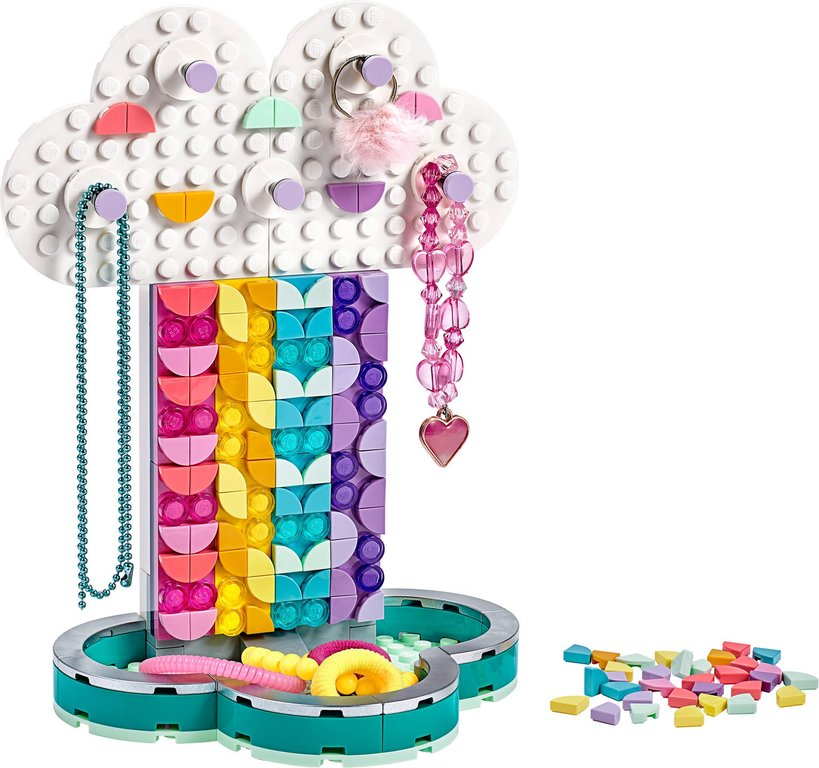 LEGO® DOTS Rainbow Jewelry Stand components