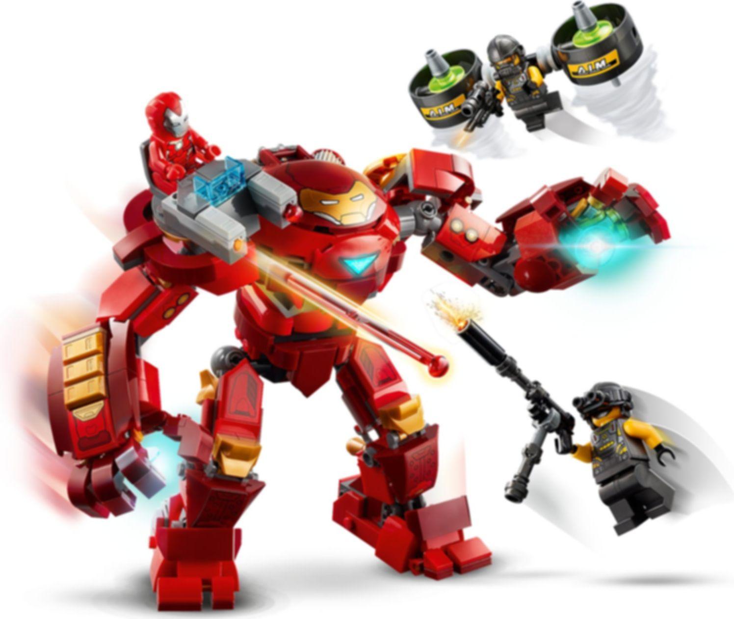 Iron Man Hulkbuster versus A.I.M. Agent gameplay