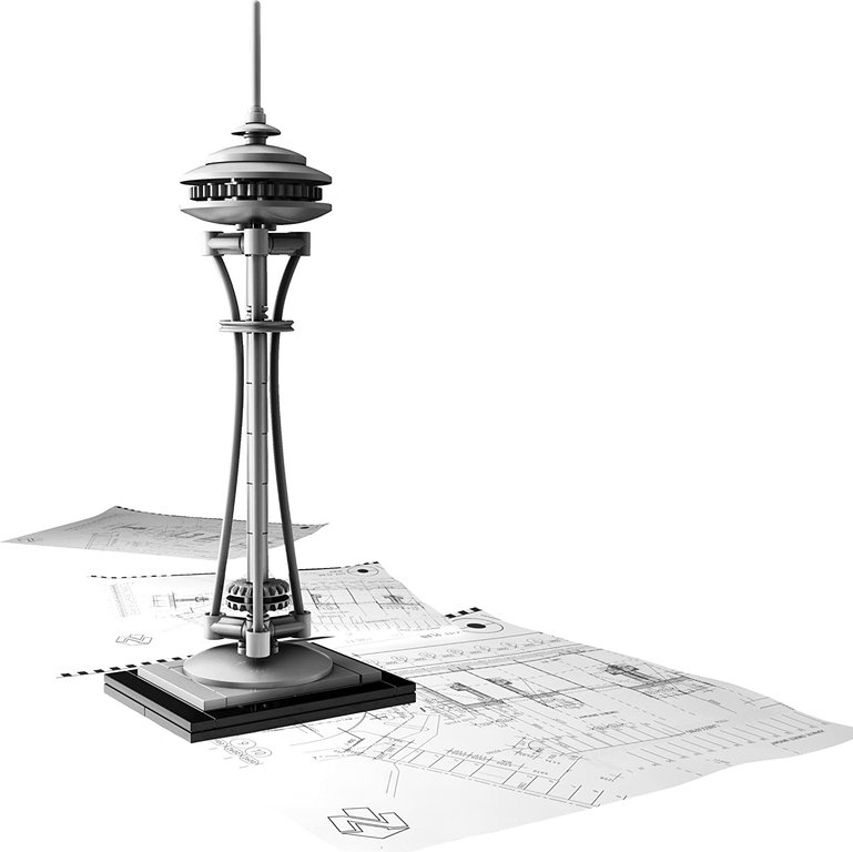 LEGO® Architecture Seattle Space Needle components