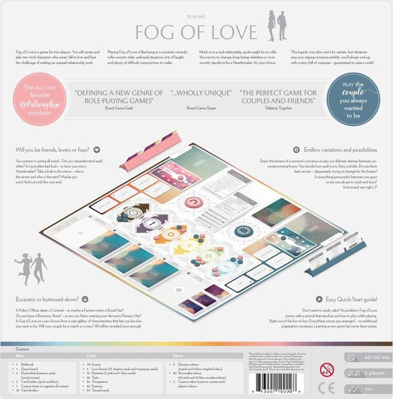 Fog of Love back of the box