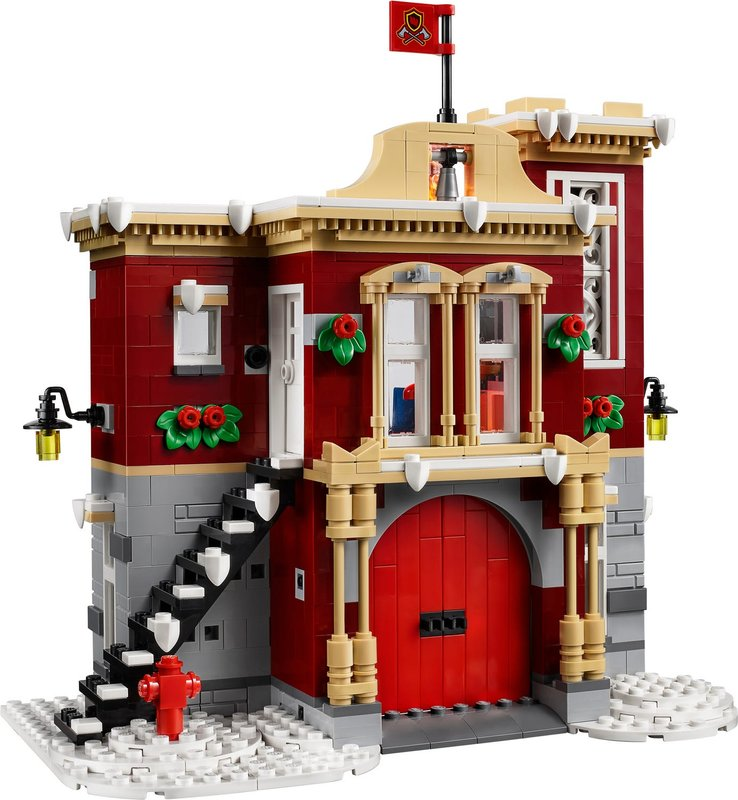 Winter Village Fire Station building