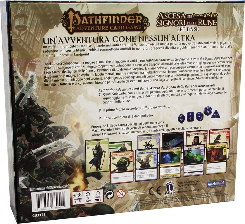 Pathfinder: Rise of the Runelords Base Set back of the box