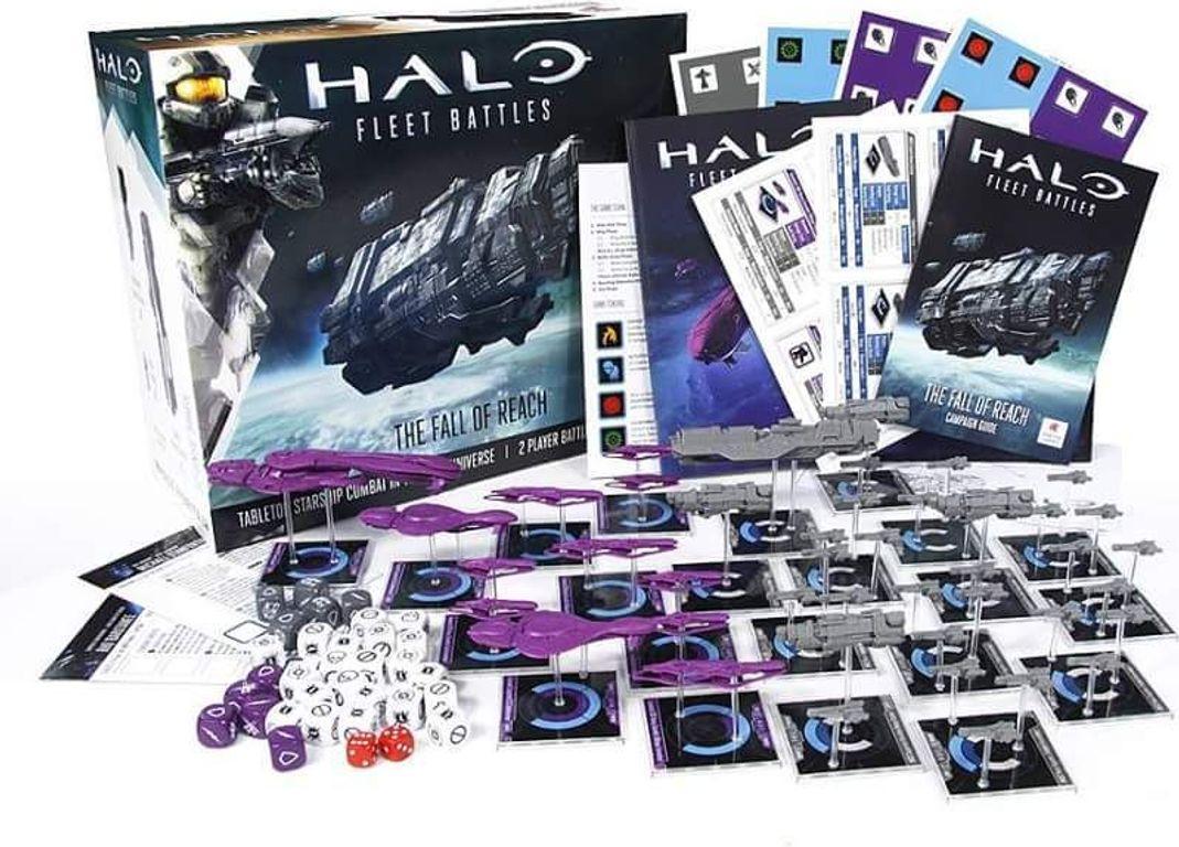 Halo: Fleet Battles - The Fall of Reach components