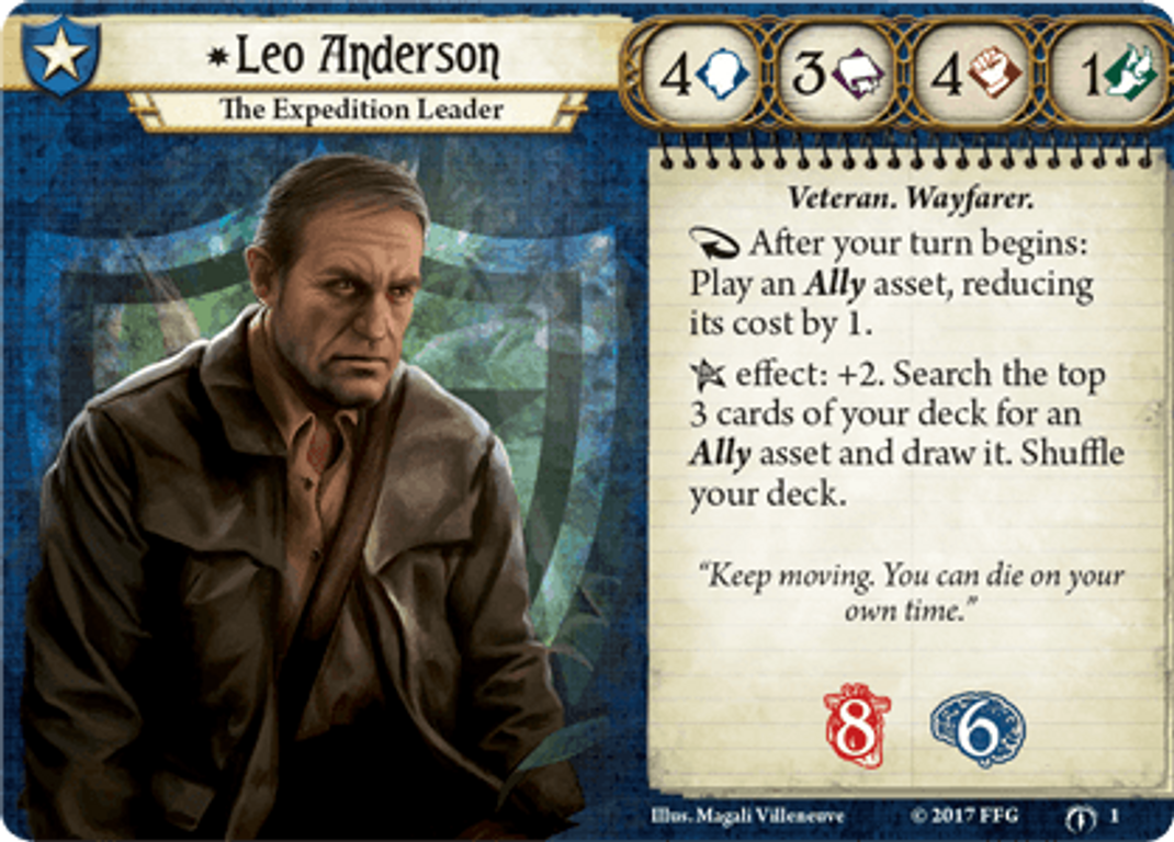Arkham Horror: The Card Game - The Forgotten Age: Expansion Leo Anderson card