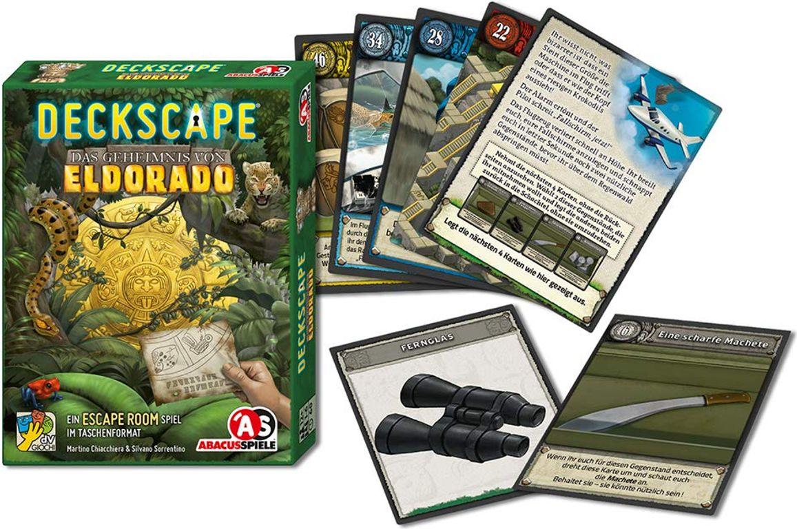 Deckscape: The Mystery of Eldorado components